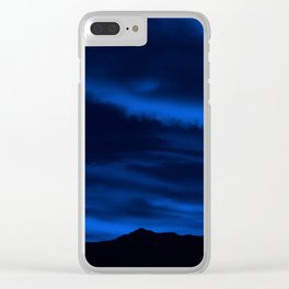 SW Midnight Blue Morning Clear iPhone Case