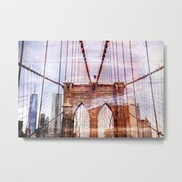 Brooklyn Bridge Art Metal Print