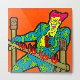 How Low Can You Go - joker pop art painting Metal Print