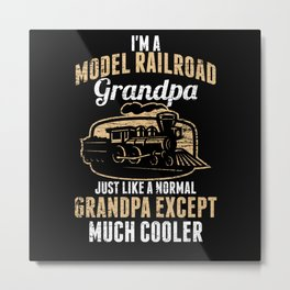 Model Building Railway Grandfather Metal Print