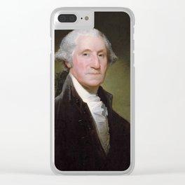 Gilbert Stuart – Portrait of George Washington. Clear iPhone Case