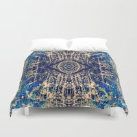 mineral Duvet Covers featuring Labradorite Mineral by j kelso (SeaBelly)