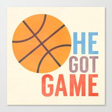 He Got Game Canvas Print