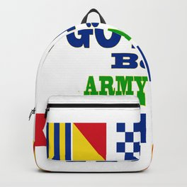 Go Navy, Beat Army in Signal Flags Backpack