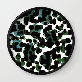 Abstract Green & Blue Wall Clock