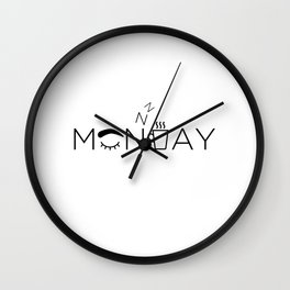 Lazy Monday Wall Clock