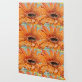 Gerber Daisy Retro Glass Painting Wallpaper