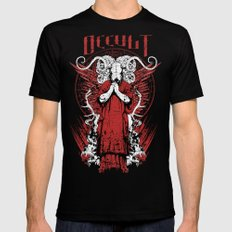 Occult LARGE Mens Fitted Tee Black