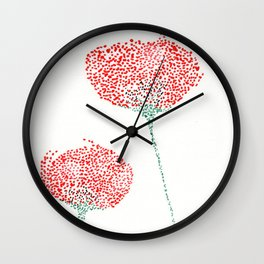 flower I Wall Clock