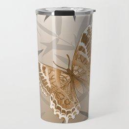 Beautiful Copper Butterfly Design Travel Mug