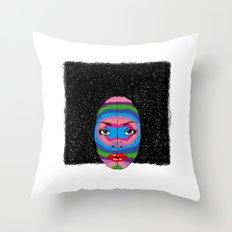 B-Mask Throw Pillow