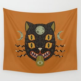 Spooky Cat Wall Tapestry