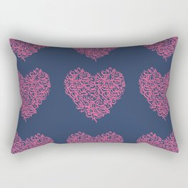 small hearts arabic letters pink Rectangular Pillow