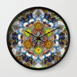 Upwards Redux - The Mandala Collection Wall Clock