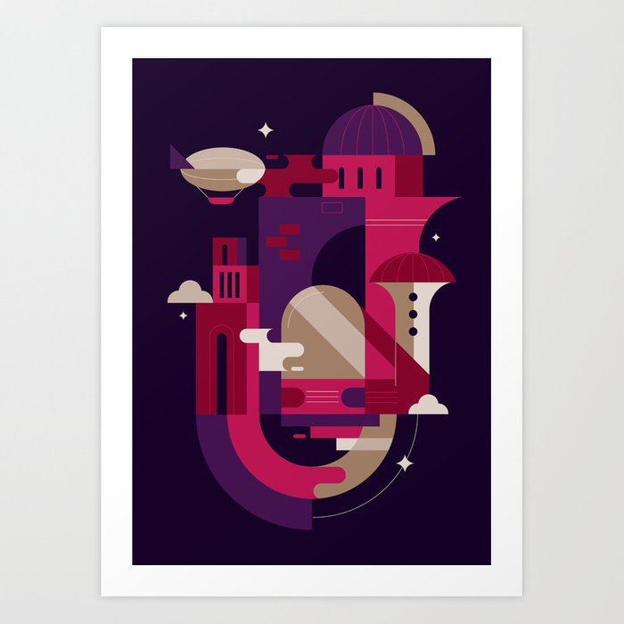 Retrofuturism Art Print