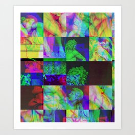 Poseidon Glitch 02 Art Print