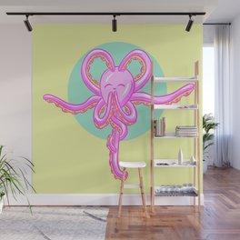 Tranquil Meditation Yoga Octopus Cartoon Wall Mural