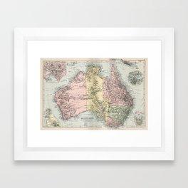 Vintage Map of Australia (1891) Framed Art Print