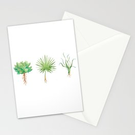 Plant Trio Watercolor Stationery Cards