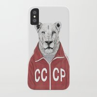 soviet iPhone & iPod Cases featuring Soviet lion by Balazs Solti