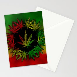 Rasta Leaf Stationery Cards