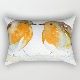 Robins in Love Rectangular Pillow