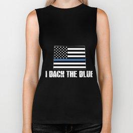 Colorado Police Appreciation Thin Blue Line I Back The Blue 2 Biker Tank