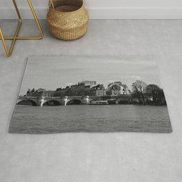 Paris Ile de La Cite and River Seine Rug