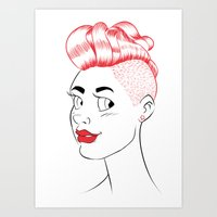 Sheena is... red Art Print