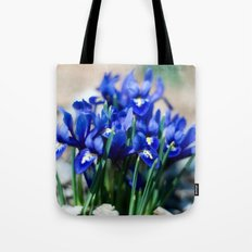 Iris Watercolor Tote Bag