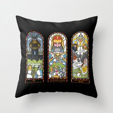 Windows of Aaarrgggh Throw Pillow