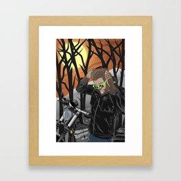 Midnight Rider Framed Art Print