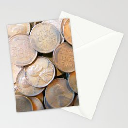 Watercolor Coins, Lincoln Wheat Pennies, 1936 03 Stationery Cards