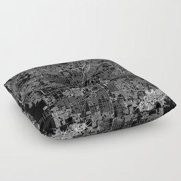 Las Vegas Black Map Floor Pillow