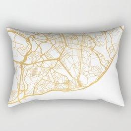 LISBON PORTUGAL CITY STREET MAP ART Rectangular Pillow
