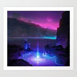PHAZED PixelArt 8 Art Print