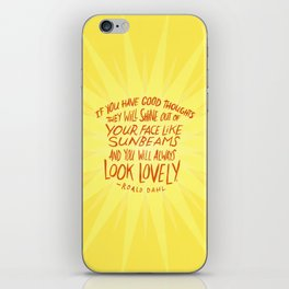 Roald Dahl on Positive Thinking iPhone Skin