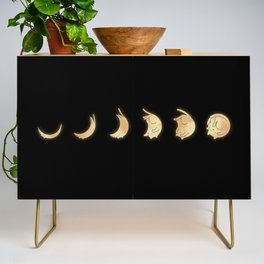 Cat Landscape 57: Phases of the Meow Credenza