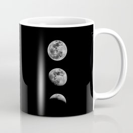 Phases of the Moon print black-white monochrome new lunar eclipse poster home bedroom wall decor Coffee Mug