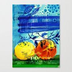 Organic Fruits Canvas Print