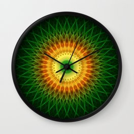 Dragon Eye Mandala Wall Clock