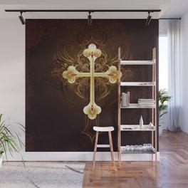 Golden Cross Wall Mural