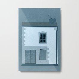 La maison et l'oiseau Metal Print