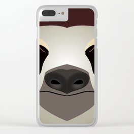 2D sloth Clear iPhone Case