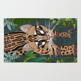 ocelot jungle nightshade Rug