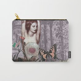 Woman in Purple Garden Carry-All Pouch