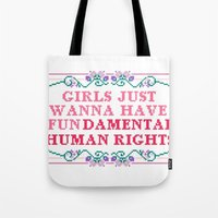 equality Tote Bags featuring EQUALITY by Hoeroine