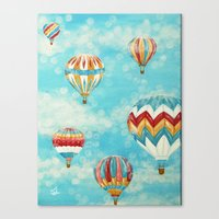 hot air balloons Canvas Prints featuring Hot Air Balloons 1 by Music of the Heart