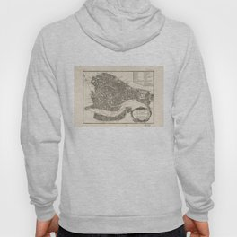 Vintage Map of Venice Italy (1764) Hoody