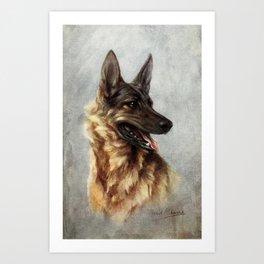 The Story of the Dog 1939 - German Shepherd Art Print